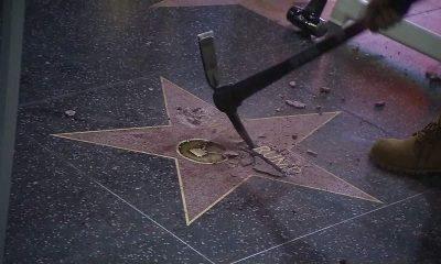 Miris! Monumen Bintang Donald Trump di Walk of Fame Rusak