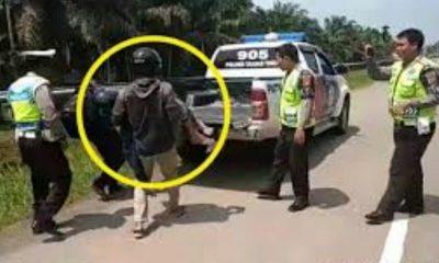 Viral Pengendara Sepeda Motor Distop, Polisi Trenyuh Karena Yang Dibonceng Ternyata…