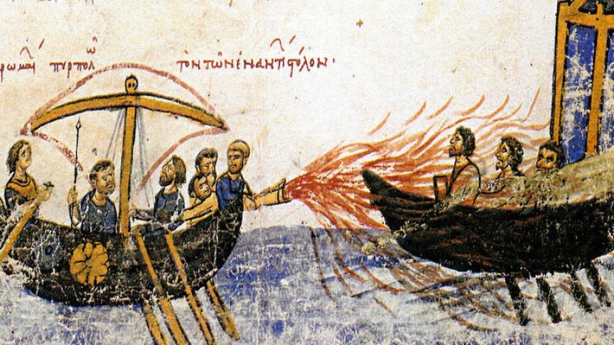 Greek Fire menjadi salah satu senjata andalan pasuka Romawi Kuno