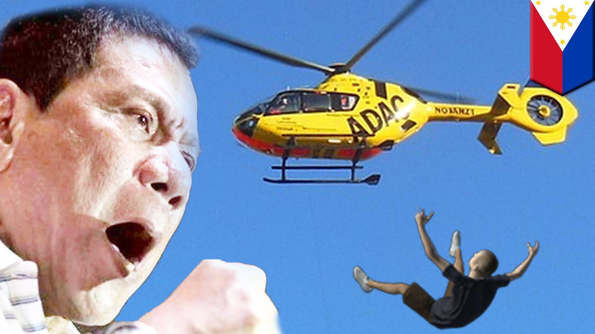 koruptor akan dijatuhkan dari helikopter