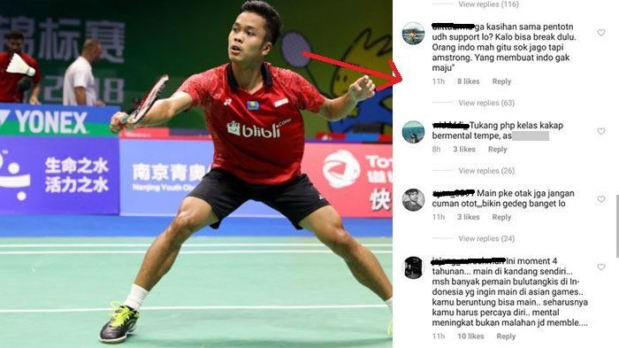 respon netizen duh anthony ginting